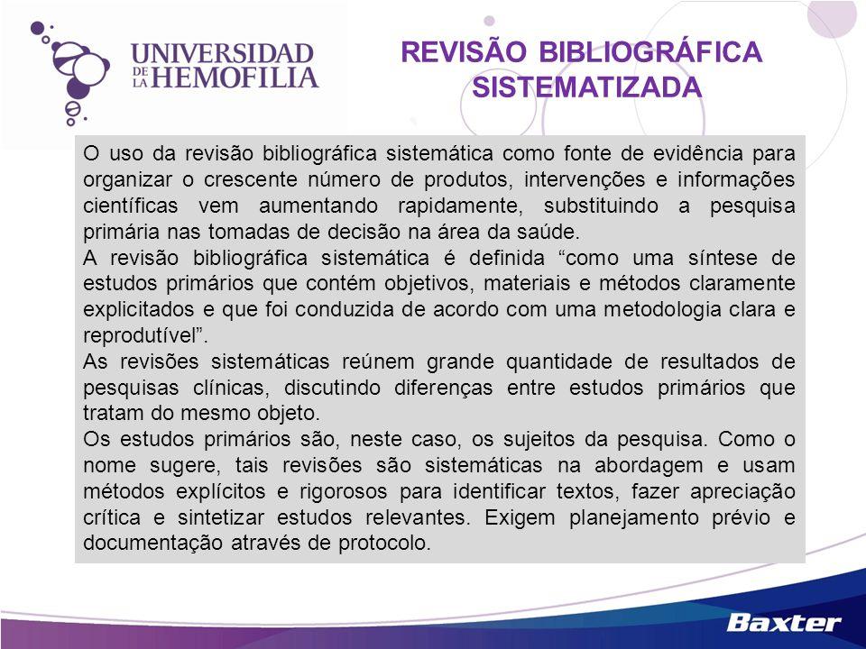 O uso da revisão bibliográfica sistemática como fonte de evidência para organizar o crescente número de produtos, intervenções e informações científic