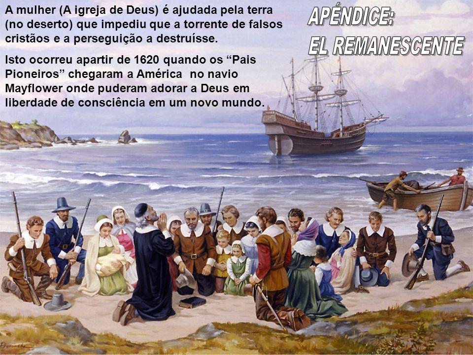 A mulher (A igreja de Deus) é ajudada pela terra (no deserto) que impediu que a torrente de falsos cristãos e a perseguição a destruísse. Isto ocorreu
