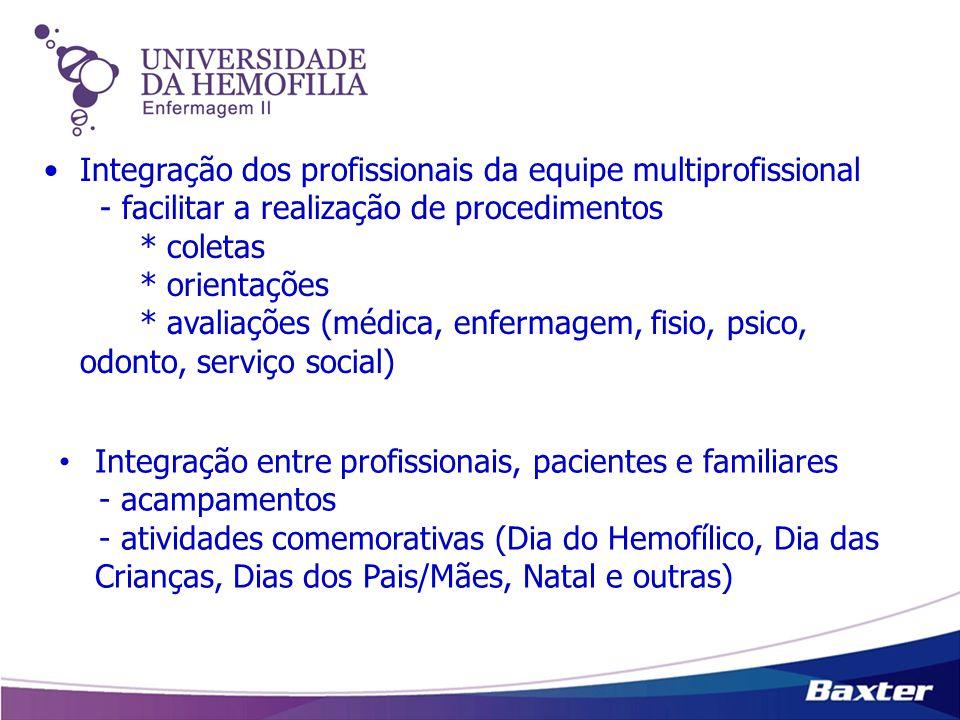 Integração dos profissionais da equipe multiprofissional - facilitar a realização de procedimentos * coletas * orientações * avaliações (médica, enfer