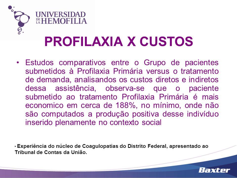 Estudos comparativos entre o Grupo de pacientes submetidos à Profilaxia Primária versus o tratamento de demanda, analisandos os custos diretos e indir