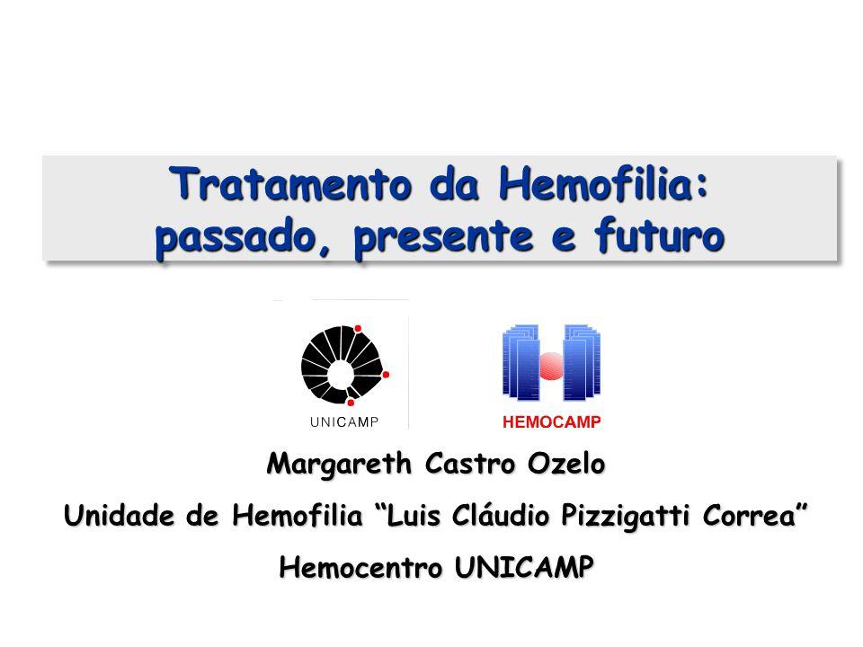Tratamento da Hemofilia: passado, presente e futuro Margareth Castro Ozelo Unidade de Hemofilia Luis Cláudio Pizzigatti Correa Hemocentro UNICAMP