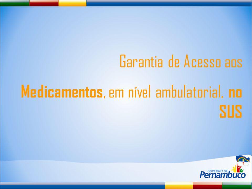 Garantia de Acesso aos Medicamentos, em nível ambulatorial, no SUS