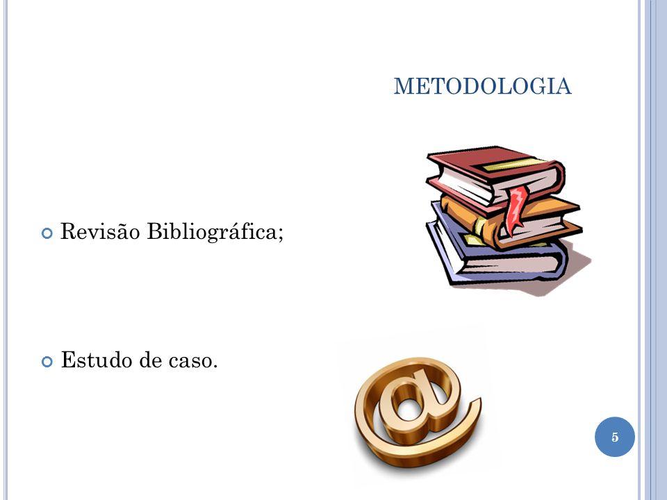 METODOLOGIA Revisão Bibliográfica; Estudo de caso. 5