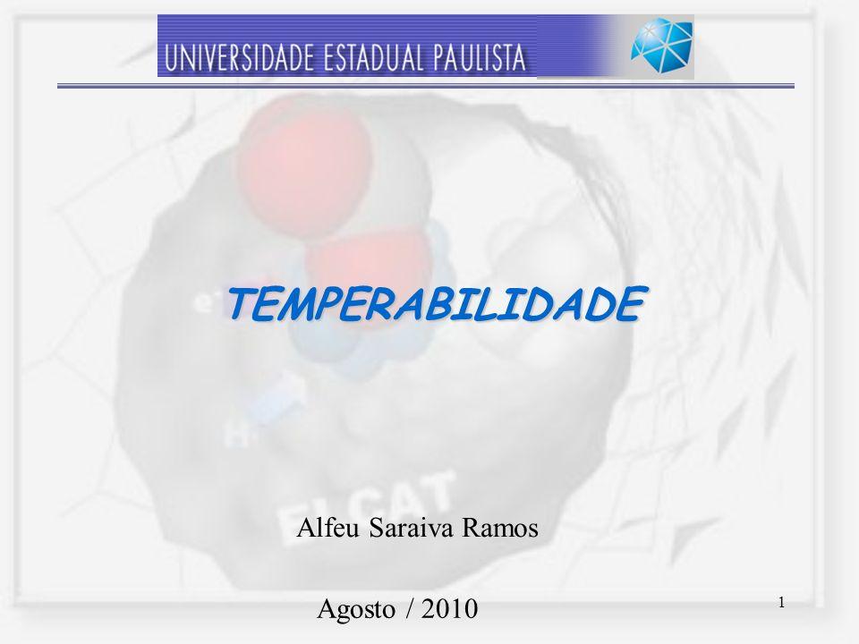 1 TEMPERABILIDADE Alfeu Saraiva Ramos Agosto / 2010