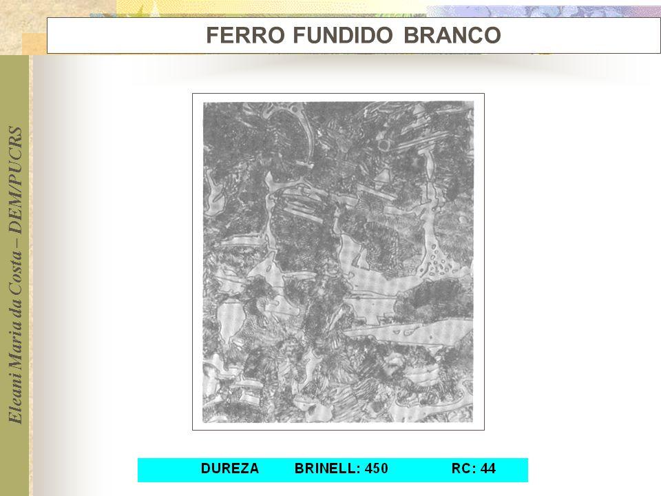 Eleani Maria da Costa – DEM/PUCRS FERRO FUNDIDO BRANCO