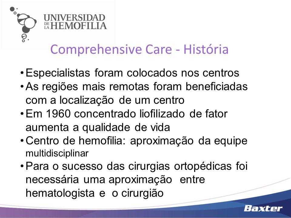 Comprehensive Care - História Especialistas foram colocados nos centros As regiões mais remotas foram beneficiadas com a localização de um centro Em 1