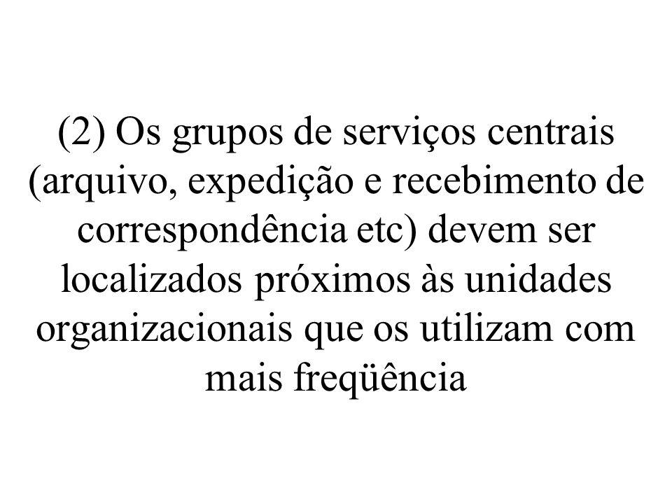 (3) Dentro de cada unidade organizacional, o trabalho deve seguir um fluxo contínuo e para a frente, o mais próximo possível em linha reta