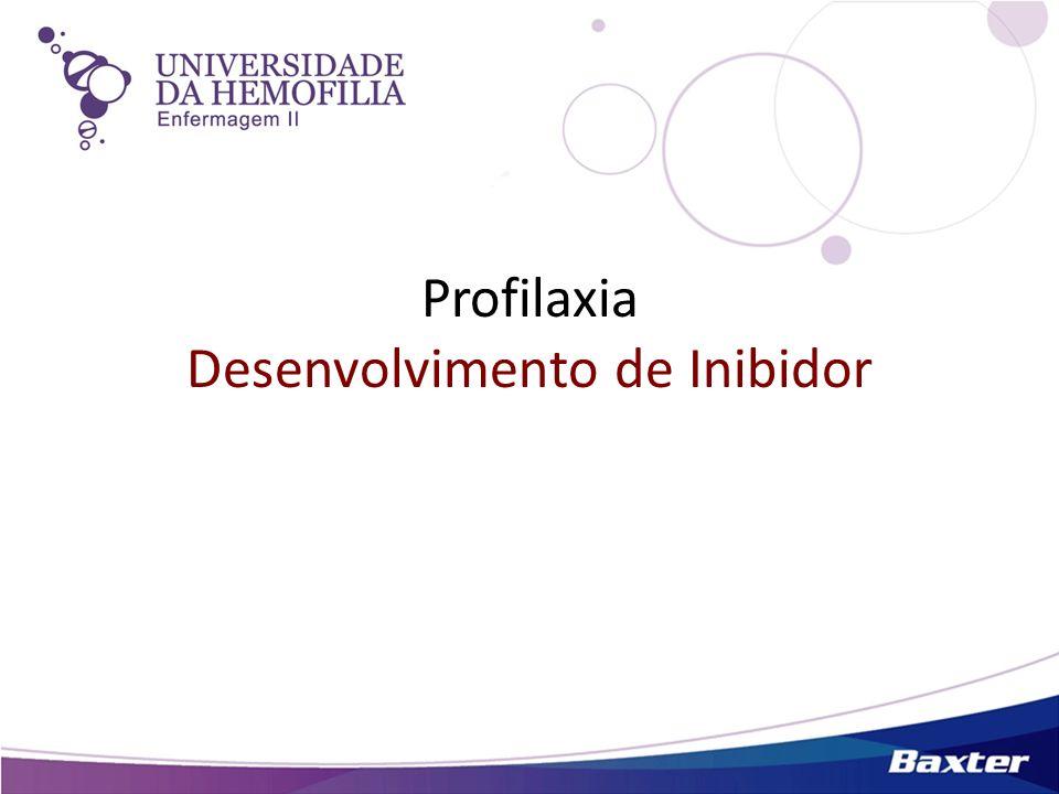 Profilaxia Desenvolvimento de Inibidor