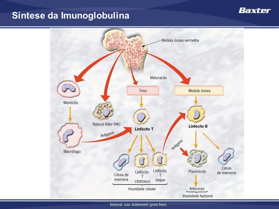 Internal use statement goes here. Síntese da Imunoglobulina
