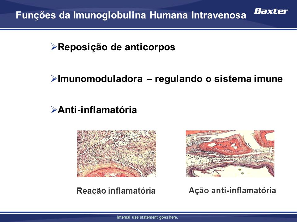 Internal use statement goes here. Imunoglobulina Humana no Brasil