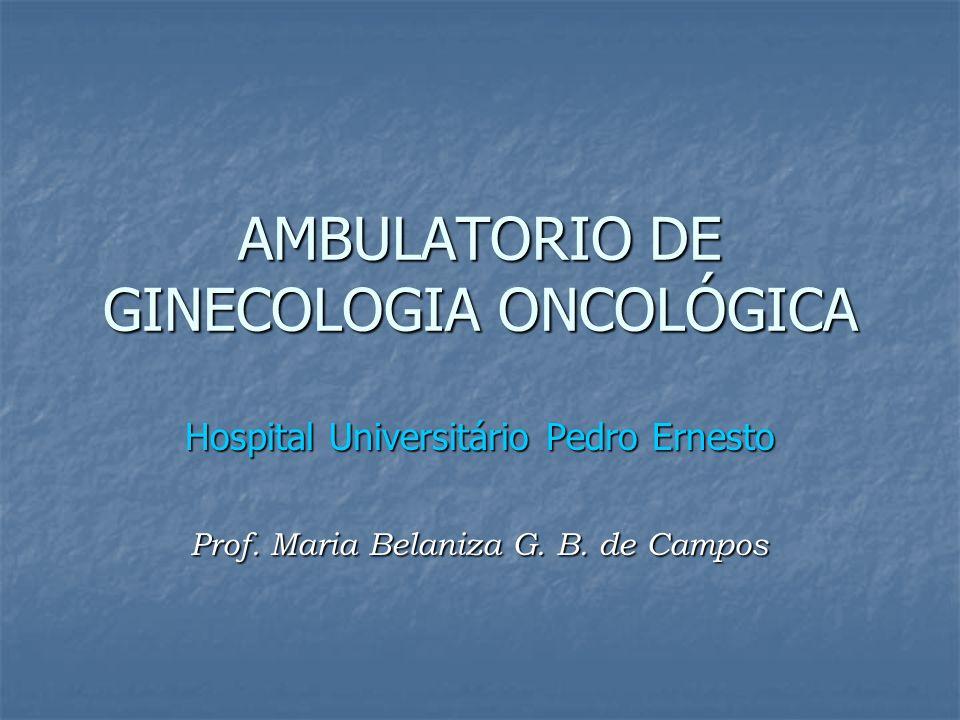 AMBULATORIO DE GINECOLOGIA ONCOLÓGICA Hospital Universitário Pedro Ernesto Prof. Maria Belaniza G. B. de Campos