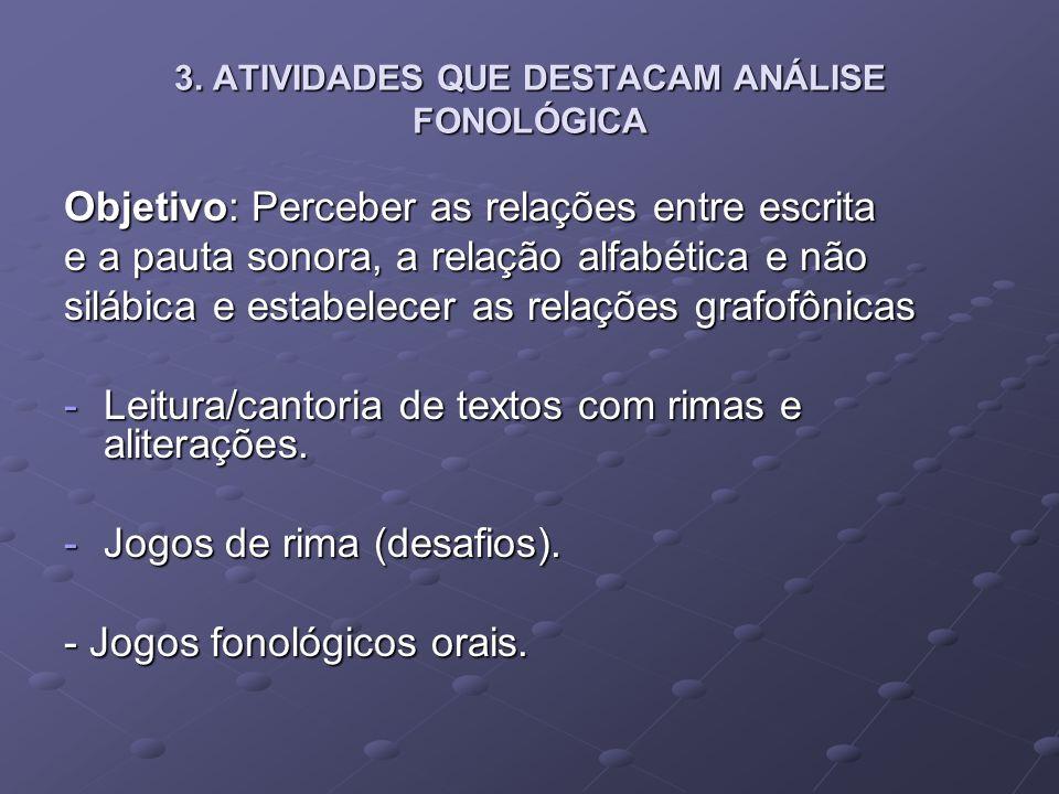 3.ATIVIDADES QUE DESTACAM ANÁLISE FONOLÓGICA - Jogos fonológicos com figuras.