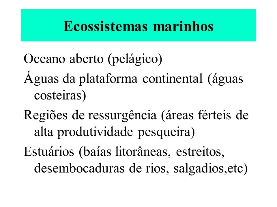 Ecossistemas dulcícolas Lêntico (águas paradas): lagos, tanques, etc.