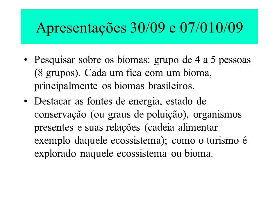 Classificação dos Ecossistemas (baseada na fonte de Energia) 1.