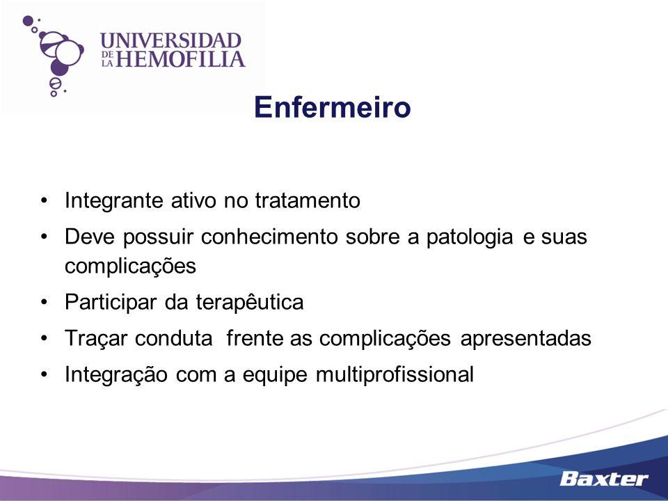 Enfermeiro Integrante ativo no tratamento Deve possuir conhecimento sobre a patologia e suas complicações Participar da terapêutica Traçar conduta fre