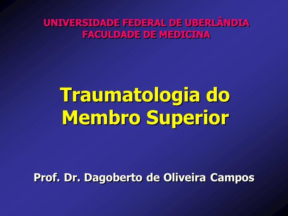 Traumatologia do Membro Superior Traumatologia do Membro Superior Prof. Dr. Dagoberto de Oliveira Campos UNIVERSIDADE FEDERAL DE UBERLÂNDIA FACULDADE