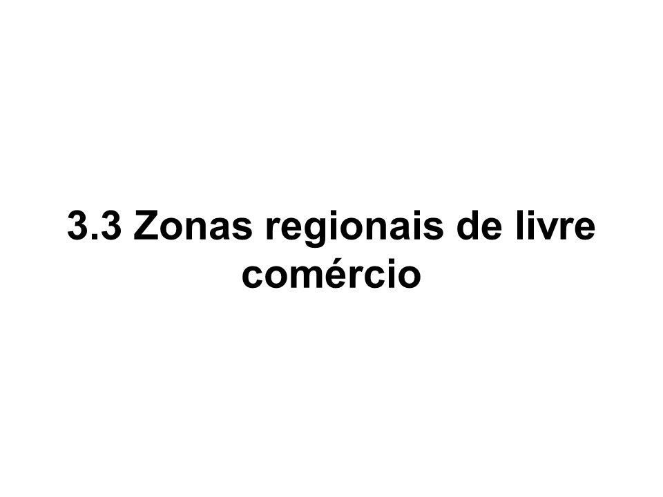 3.3 Zonas regionais de livre comércio