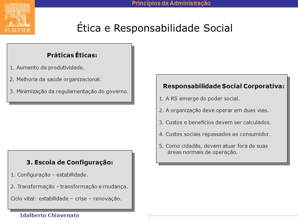 Princípios da Administração Idalberto Chiavenato Ética e Responsabilidade Social Práticas Éticas: 1.