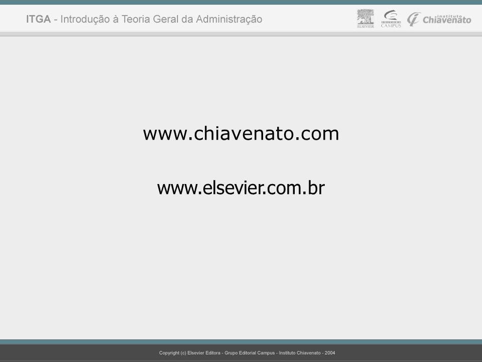 Princípios da Administração Idalberto Chiavenato www.chiavenato.com www.elsevier.com.br
