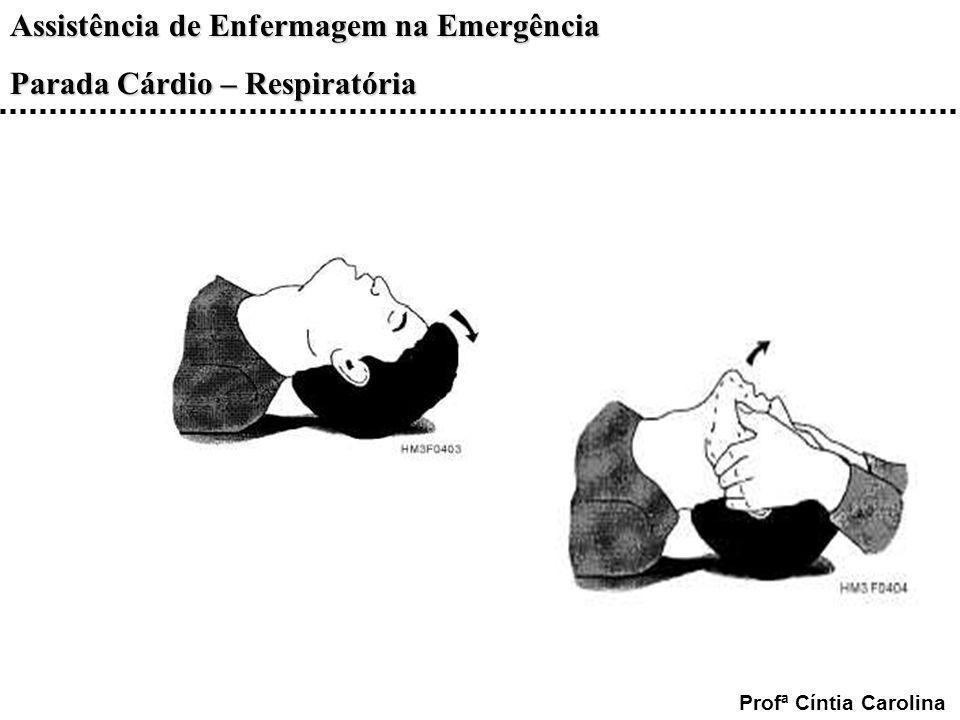 Assistência de Enfermagem na Emergência Parada Cárdio – Respiratória Profª Cíntia Carolina