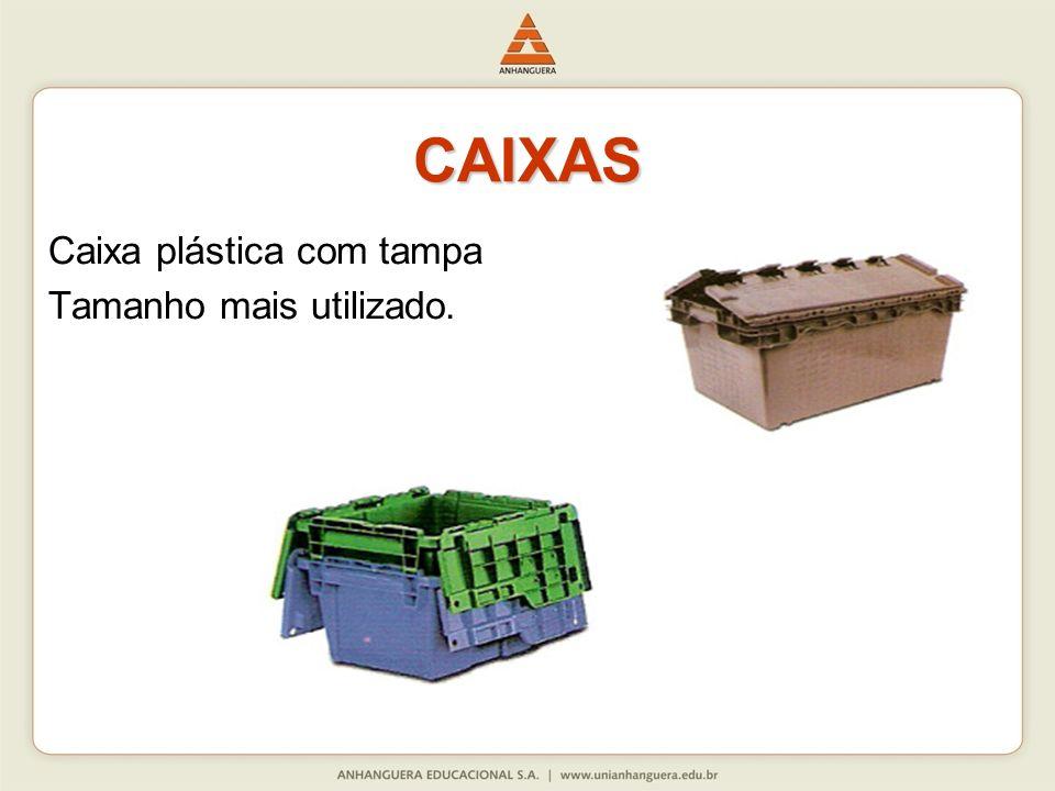 CAIXAS Caixa plástica com tampa Tamanho mais utilizado.