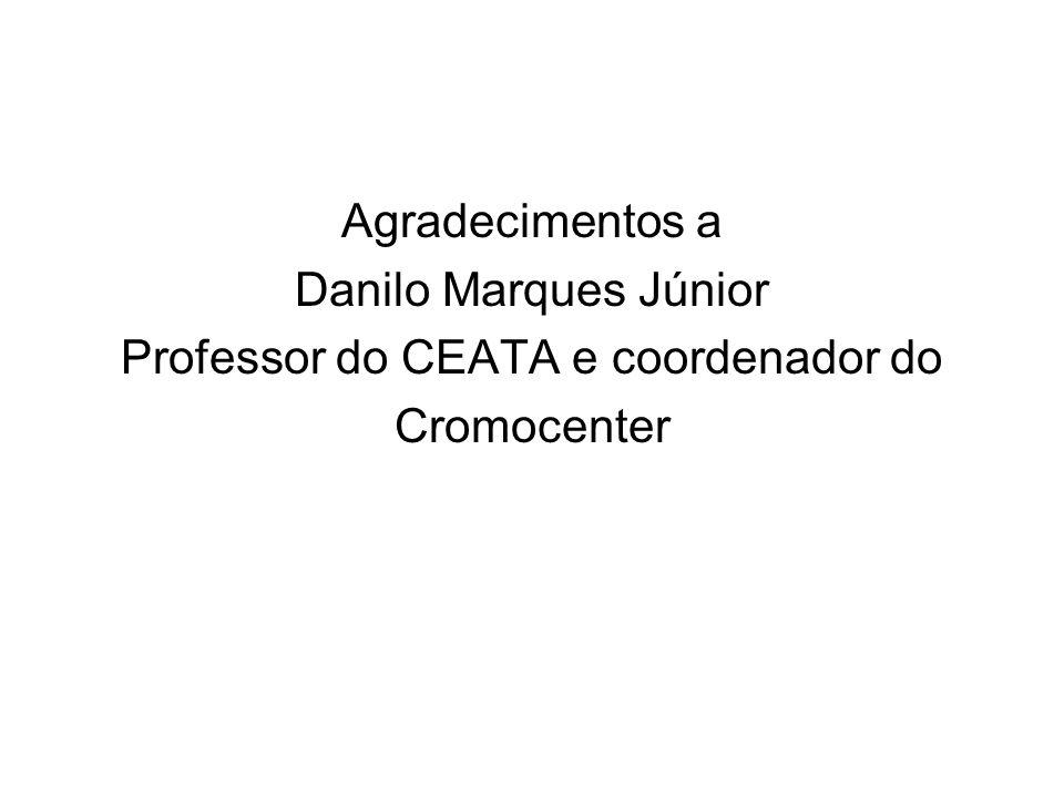 Agradecimentos a Danilo Marques Júnior Professor do CEATA e coordenador do Cromocenter