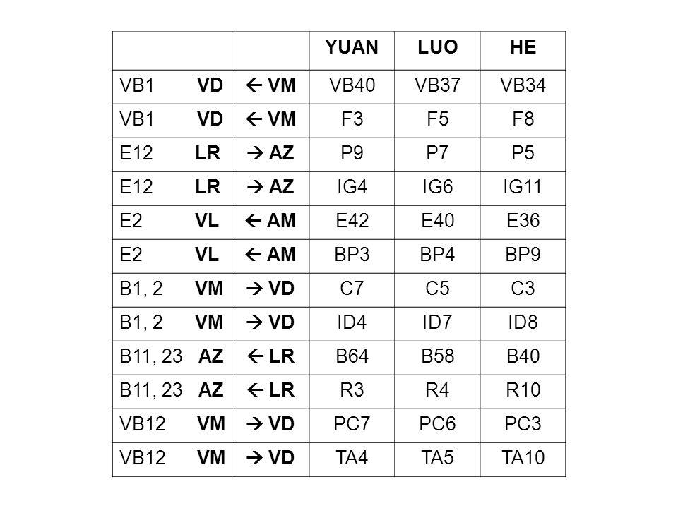 YUANLUOHE VB1 VD VMVB40VB37VB34 VB1 VD VMF3F5F8 E12 LR AZP9P7P5 E12 LR AZIG4IG6IG11 E2 VL AME42E40E36 E2 VL AMBP3BP4BP9 B1, 2 VM VDC7C5C3 B1, 2 VM VDI