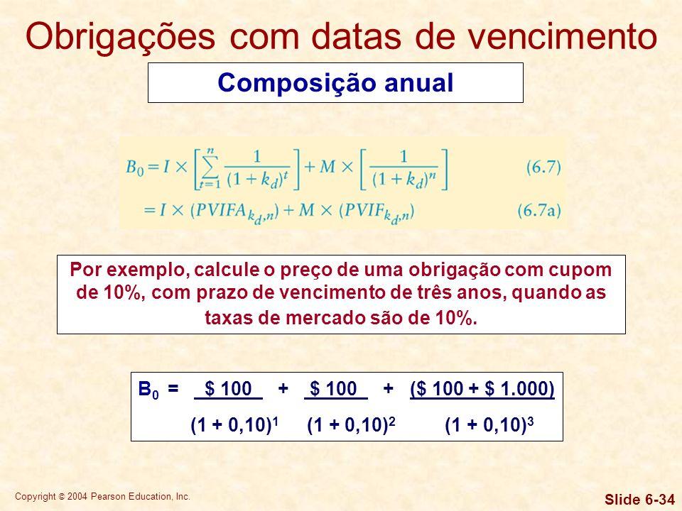 Copyright © 2004 Pearson Education, Inc. Slide 6-33 Modelo básico de avaliação
