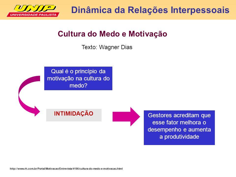 http://www.rh.com.br/Portal/Motivacao/Entrevista/4196/cultura-do-medo-e-motivacao.html Cultura do Medo e Motivação Qual é o princípio da motivação na