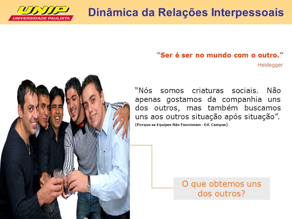 Bibliografia Consultada Dinâmica da Relações Interpessoais MOSCOVICI, F.