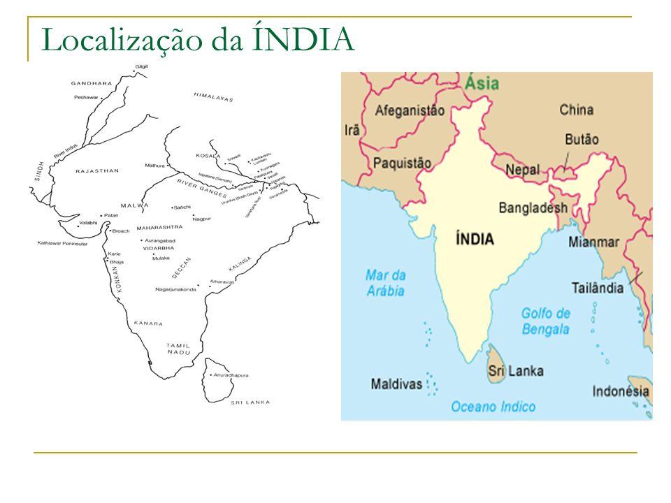Localização da ÍNDIA