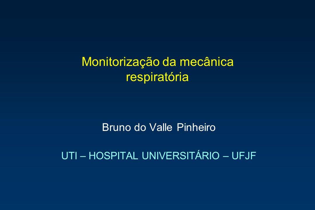 Monitorização da mecânica respiratória Bruno do Valle Pinheiro UTI – HOSPITAL UNIVERSITÁRIO – UFJF