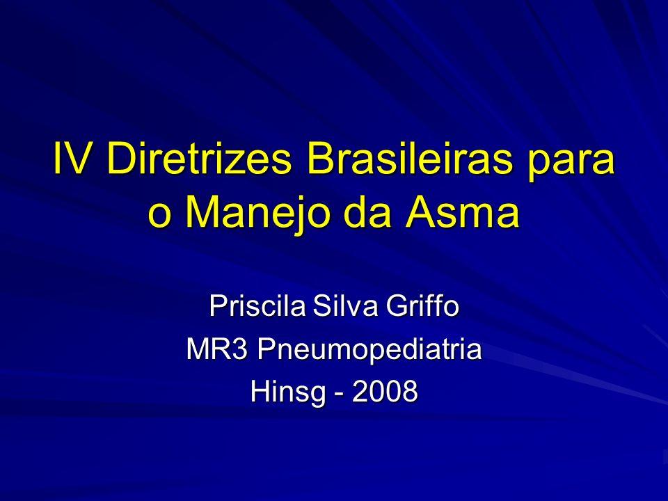 Asma de difícil controle (1 critério maior + 2 critérios menores) ASMA – Diretrizes 2006