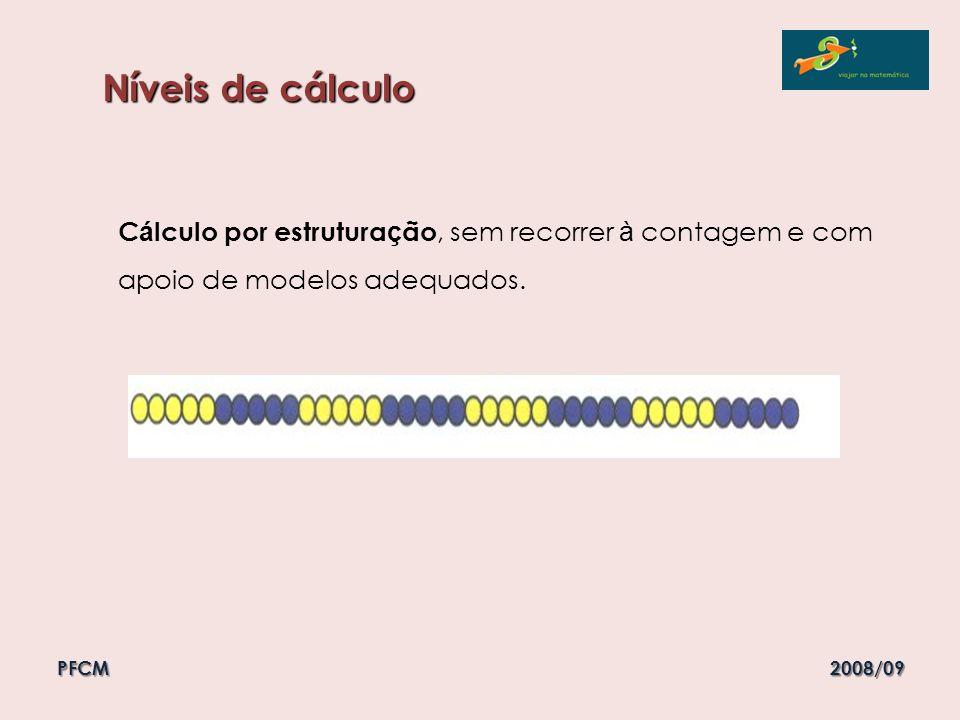 Níveis de cálculo C á lculo por estrutura ç ão, sem recorrer à contagem e com apoio de modelos adequados. PFCM 2008/09