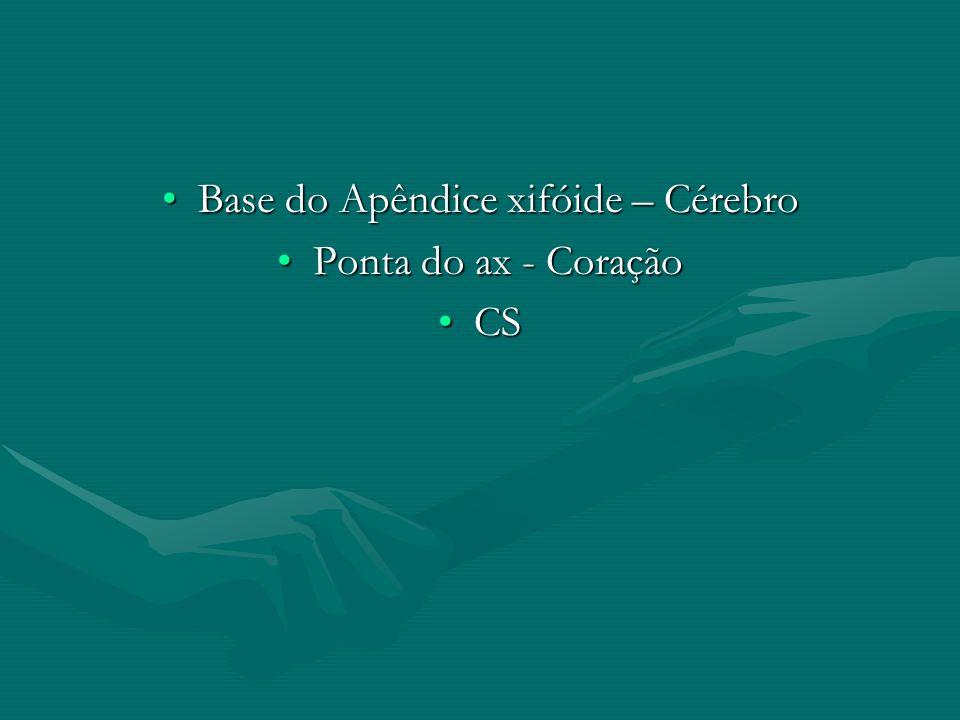 Base do Apêndice xifóide – CérebroBase do Apêndice xifóide – Cérebro Ponta do ax - CoraçãoPonta do ax - Coração CSCS
