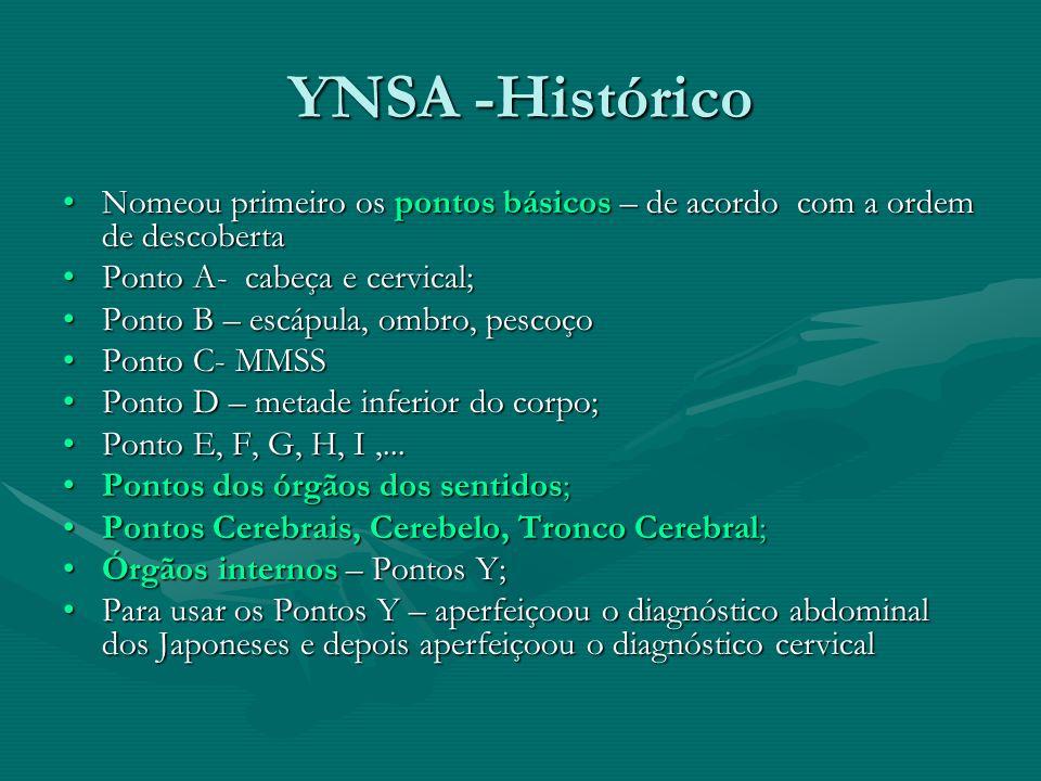 YNSA -Histórico Nomeou primeiro os pontos básicos – de acordo com a ordem de descobertaNomeou primeiro os pontos básicos – de acordo com a ordem de de