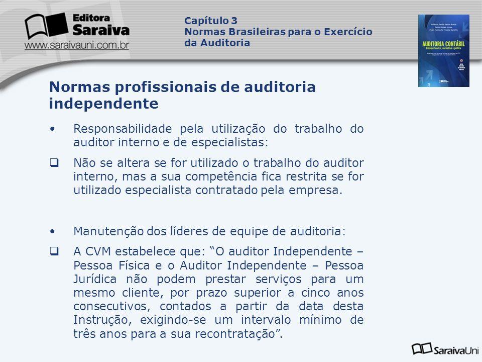 Responsabilidade pela utilização do trabalho do auditor interno e de especialistas: Não se altera se for utilizado o trabalho do auditor interno, mas
