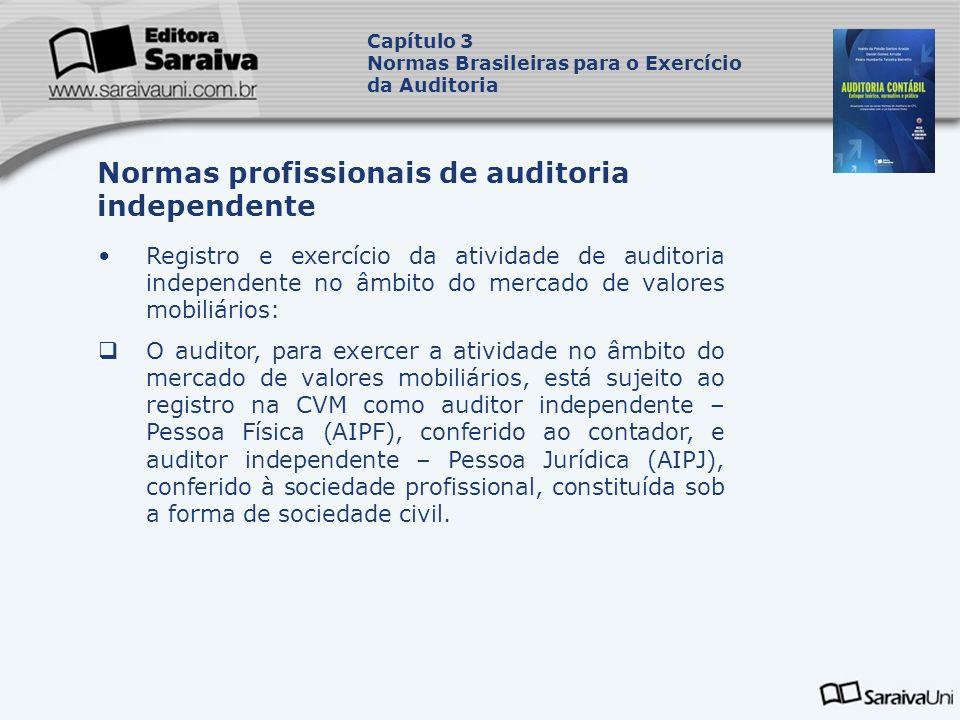 Registro e exercício da atividade de auditoria independente no âmbito do mercado de valores mobiliários: O auditor, para exercer a atividade no âmbito