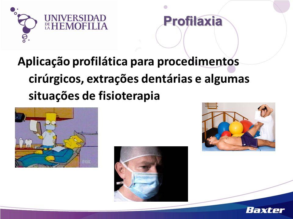 Aplicação profilática para procedimentos cirúrgicos, extrações dentárias e algumas situações de fisioterapia Profilaxia