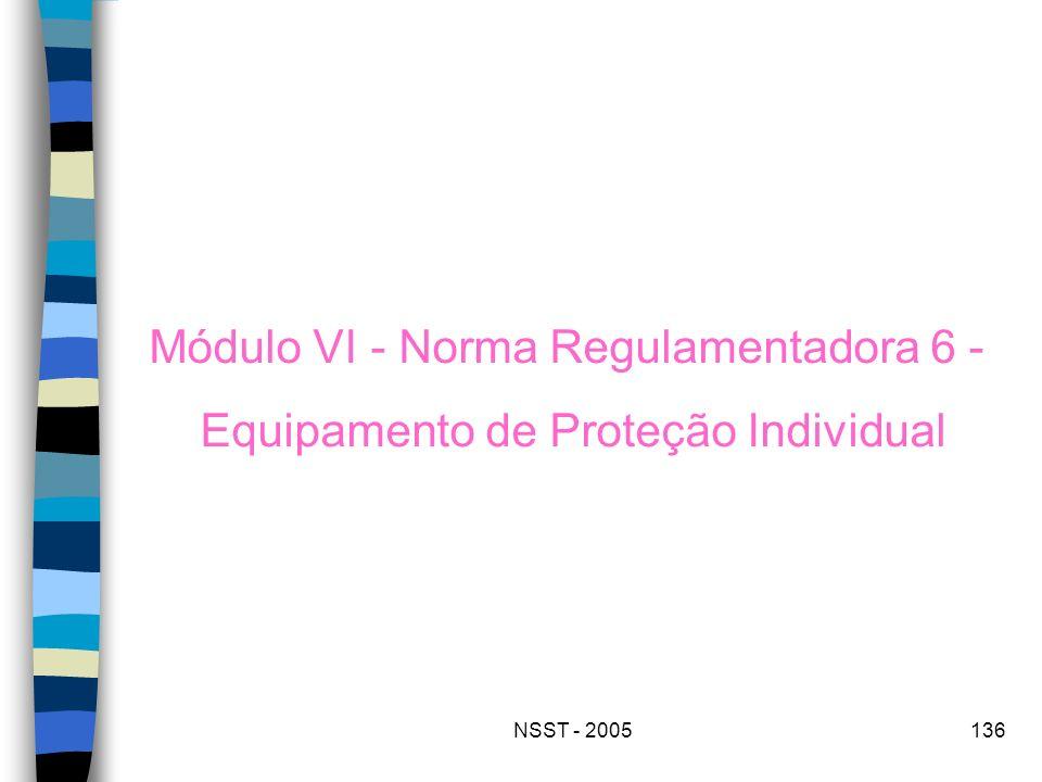 NSST - 2005136 Módulo VI - Norma Regulamentadora 6 - Equipamento de Proteção Individual