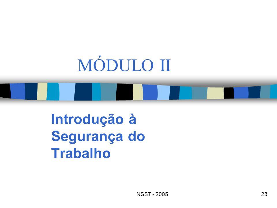 NSST - 200523 MÓDULO II Introdução à Segurança do Trabalho