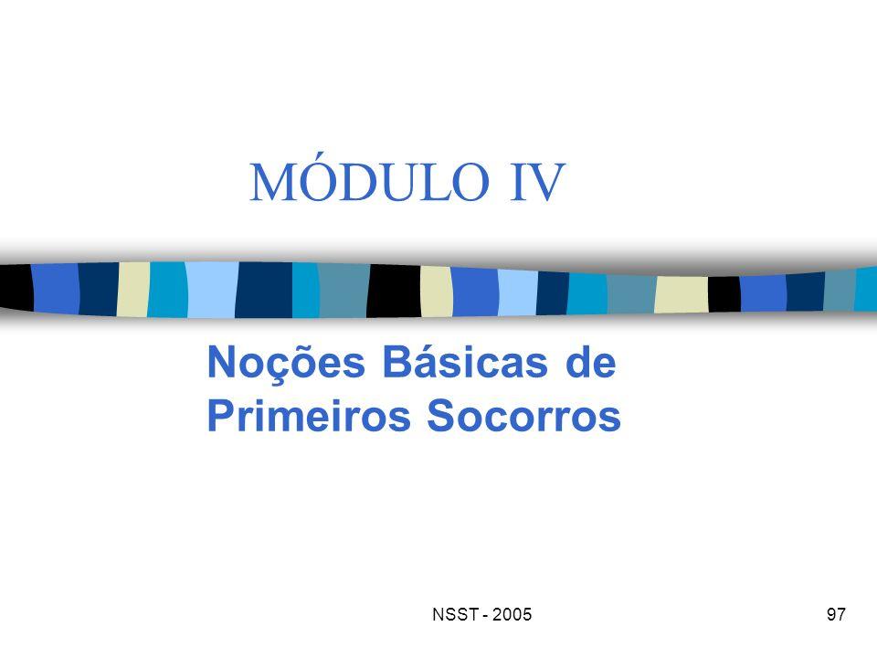 NSST - 200597 MÓDULO IV Noções Básicas de Primeiros Socorros