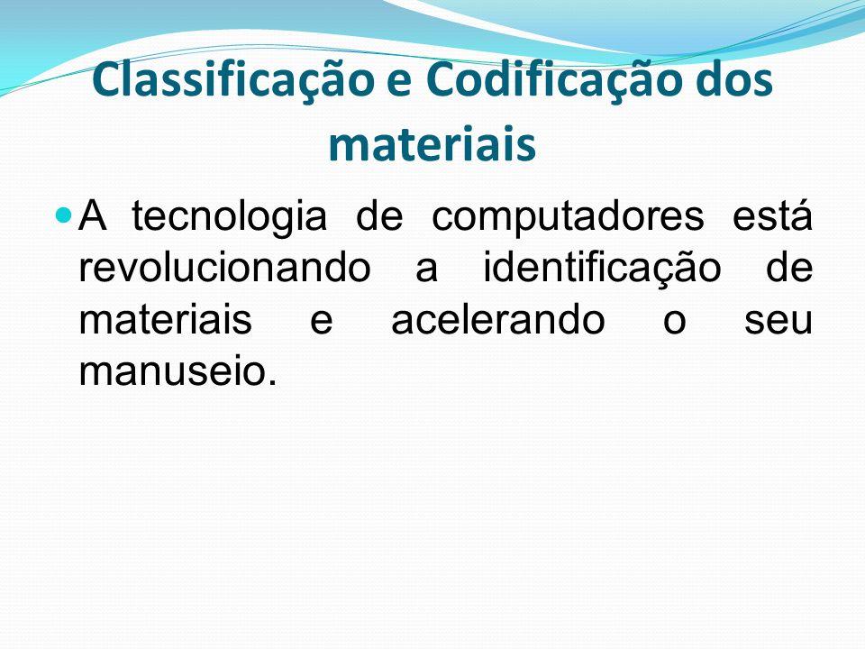 Classificação e Codificação dos materiais A tecnologia de computadores está revolucionando a identificação de materiais e acelerando o seu manuseio.