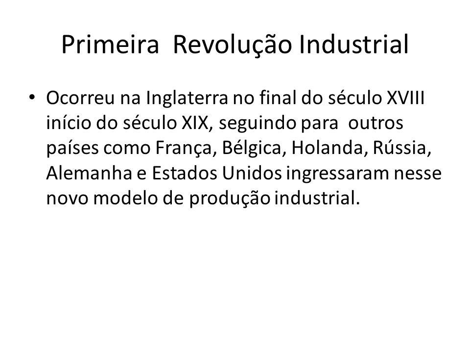 Revolução Industrial A utilização de máquinas nas indústrias propiciou uma produtividade extremamente dinâmica, com isso a indústria se tornou uma alternativa de trabalho.