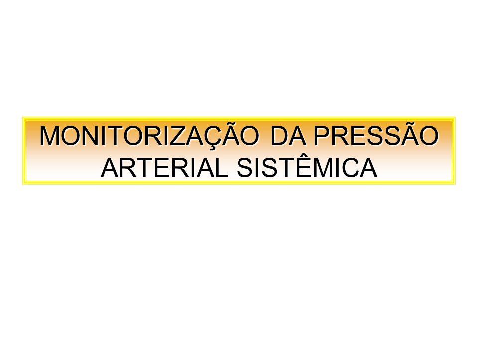 MONITORIZAÇÃO DA PRESSÃO ARTERIAL SISTÊMICA