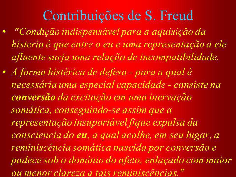 Contribuições de S.Freud Também a conduta da senhora K.