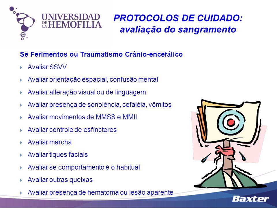 Se Ferimentos ou Traumatismo Crânio-encefálico Avaliar SSVV Avaliar orientação espacial, confusão mental Avaliar alteração visual ou de linguagem Aval