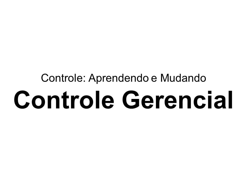 Controle: Aprendendo e Mudando Controle Gerencial