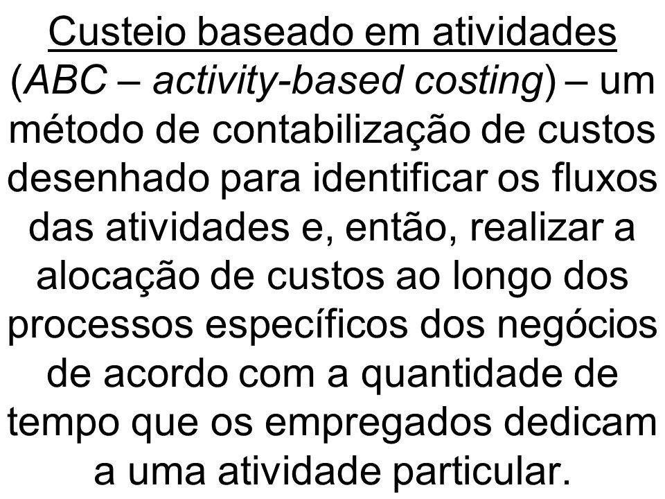 Custeio baseado em atividades (ABC – activity-based costing) – um método de contabilização de custos desenhado para identificar os fluxos das atividad