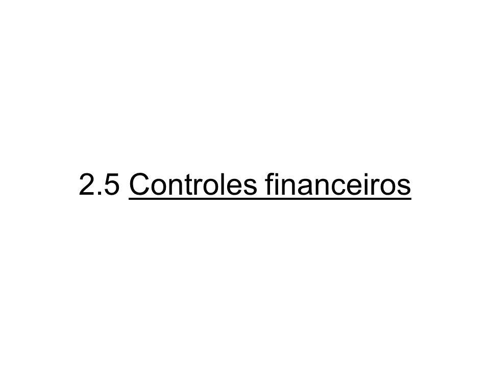 2.5 Controles financeiros